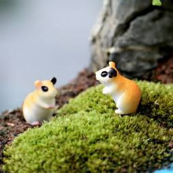Miniature Hamster Figurine for Fairy Garden